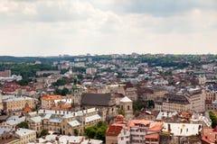 Vue de vieille petite ville Lviv Photo libre de droits