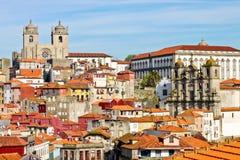 Vue de vieille Porto Photos libres de droits