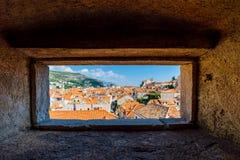 Vue de vieille ville de Dubrovnik Image libre de droits