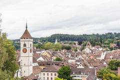 Vue de vieille ville de Schaffhausen Photo stock