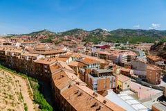 Vue de vieille ville de Teruel, Aragon Image libre de droits