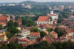 Vue de vieille ville de Vilnius, Lithuanie Photo stock