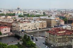Vue de vieille ville européenne de taille du vol de l'oiseau St Petersbourg, Russie, Europe du Nord Photo stock