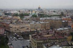 Vue de vieille ville européenne de taille du vol de l'oiseau St Petersbourg, Russie, Europe du Nord Photo libre de droits