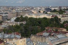 Vue de vieille ville européenne de taille du vol de l'oiseau St Petersbourg, Russie, Europe du Nord Photos libres de droits