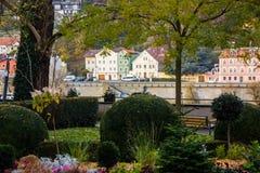 Vue de vieille ville de Passau images libres de droits