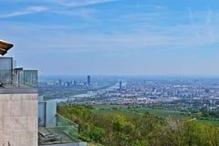 Vue de Vienne de Kahlenberg, Photographie stock libre de droits