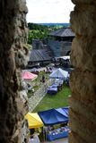 Vue de vieux château de Rakvere Photos libres de droits