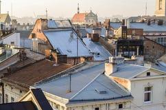 Vue de vieux Lviv Photos stock