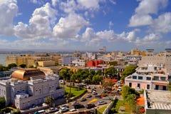 Vue de vieux San Juan, Porto Rico de fort d'EL Morro Photo stock