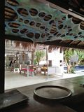 Vue de villa d'îles de Gili photographie stock
