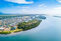 Vue de village côtier pittoresque en Nouvelle-Galles du Sud photo stock