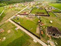 Vue de village d'en haut Photographie stock libre de droits