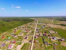 Vue de village d'en haut Images stock