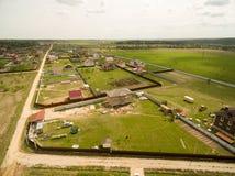 Vue de village d'en haut Image libre de droits