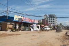 Vue de village d'Otres au Cambodge images libres de droits
