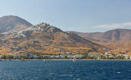 Vue de village de Chora, île de Serifos, Grèce photo stock