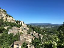 Vue de village de Gordes Photo libre de droits