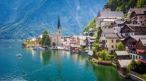 Vue de village de Hallstatt Images stock