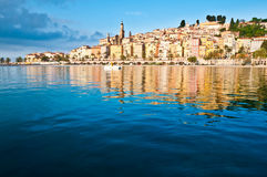 Vue de village de Menton Provence Image stock