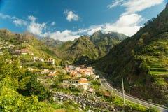 Vue de village de montagne (1) Images libres de droits