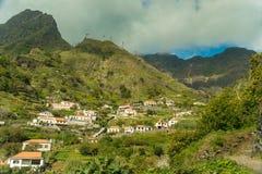 Vue de village de montagne de la Madère (2) Photos stock