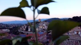 Vue de village de montagne banque de vidéos