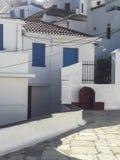 Vue de village de ville de Skopelos photographie stock