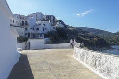 Vue de village de ville de Skopelos photo stock