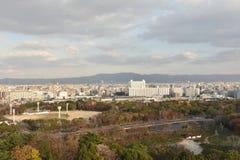 Vue de ville à Osaka égalisant, Japon Photo libre de droits