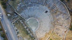 Vue de ville antique ci-dessus de Halicarnassus Amphithéâtre dans la station touristique de Bodrum Longueur a?rienne clips vidéos