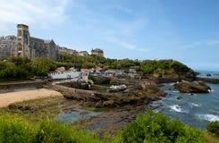 Vue de ville de Biarritz par l'Océan Atlantique, France image stock