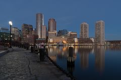 Vue de ville de Boston images stock