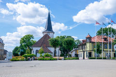 Vue de ville chez Tukums, Lettonie photographie stock libre de droits