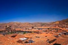 Vue de ville de Cusco au Pérou Photos libres de droits