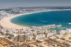 Vue de ville d'Agadir, Maroc Images libres de droits