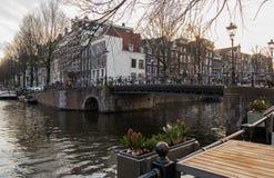 Vue de ville d'Amsterdam Photos libres de droits