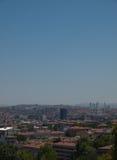 Vue de ville d'Ankara avec la mosquée et les montagnes de cami de Kocatepe Photographie stock libre de droits