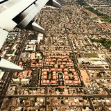 Vue de ville d'avion Photo libre de droits