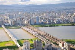 Vue de ville d'Osaka Photo stock