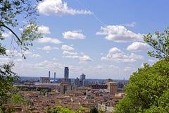 Vue de ville de Brescia du château Image libre de droits