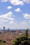 Vue de ville de Brescia du château Images stock