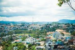 Vue de ville de Dalat Photo stock