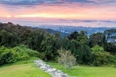 Vue de ville de George Town de colline de Penang images stock