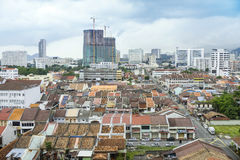 Vue de ville de Georgetown à Penang Malaisie Asie Photos libres de droits