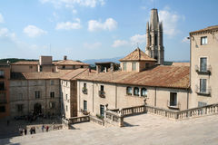 Vue de ville de Gerona en Espagne Photographie stock libre de droits