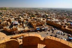 Vue de ville de Jaisalmer du fort Rajasthan l'Inde Photo stock