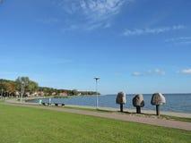 Vue de ville de Juodkrante, Lithuanie image stock