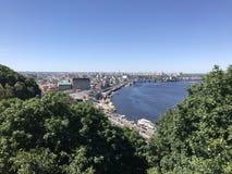 Vue de ville de Kiev Image libre de droits