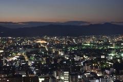 Vue de ville de Kyoto le soir Photos libres de droits